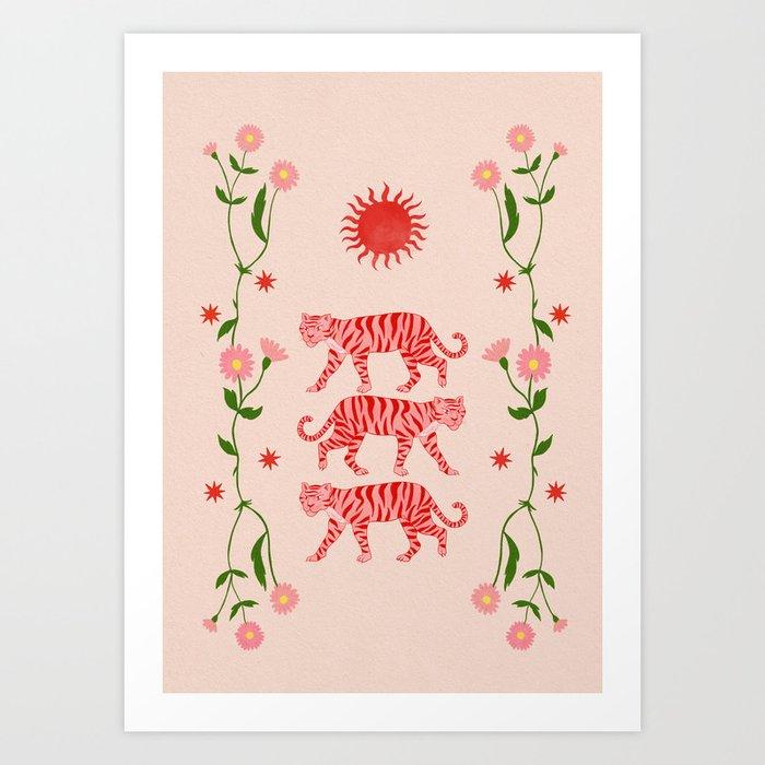 Sun Tigers  Art Print