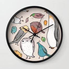 Lump Birds Wall Clock
