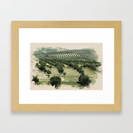 Watercolor Landscape of Kurdistan Framed Art Print