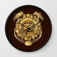90s Wall Clocks featuring Awesome 90s by Letter_q
