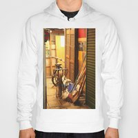 bicycles Hoodies featuring Bicycles, light by lonewombatking