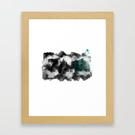 Splash of Teal Framed Art Print