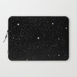 Simple psyche white stars night Laptop Sleeve