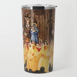 Italian travel ad Christian Easter procession Trapani Travel Mug