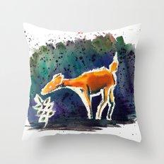 Doe Love Throw Pillow