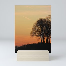 Tree by the river | Sunset over Severn River, MD Mini Art Print