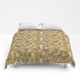 Birds of Prey in Yellow Comforters