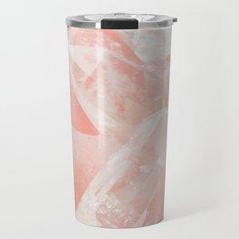 Light Pink Rose Quartz Crystals Travel Mug