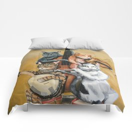 Cat Quartet Comforters