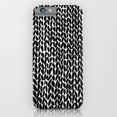 Hand Knitted Black S iPhone 6s Slim Case