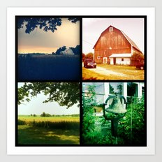 Summer on my parents' farm. Art Print