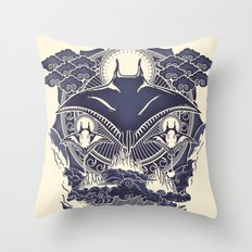 Mantra Ray Throw Pillow
