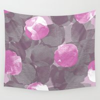 peonies Wall Tapestries featuring Abstract Peonies by Georgiana Paraschiv
