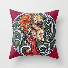Red Death - coloured variant Throw Pillow