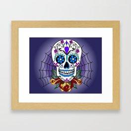 Rose, the Day of the Dead Skull  Framed Art Print