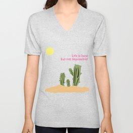 Cactus/Desert_concept_Design Unisex V-Neck