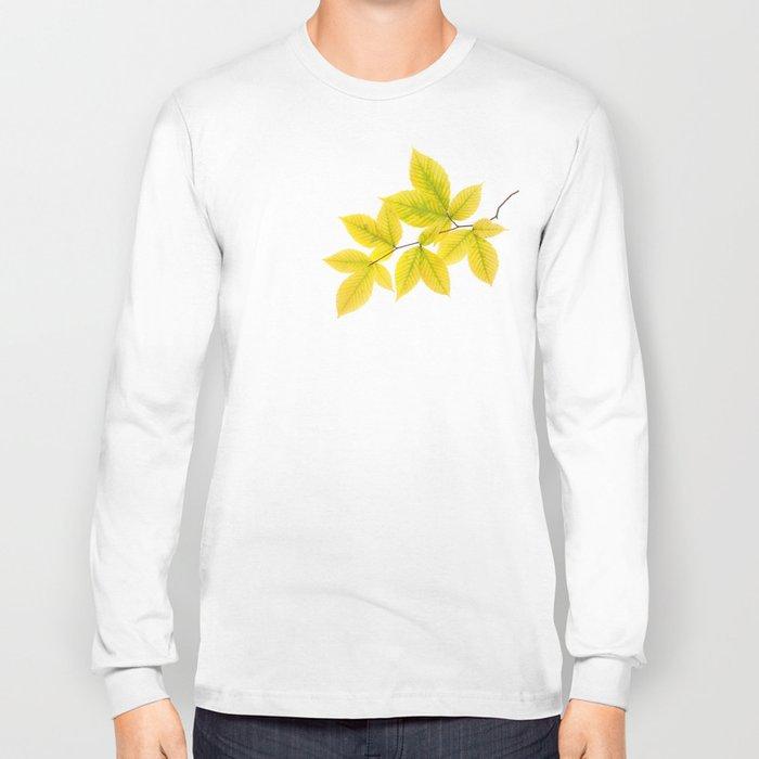Yellow Leaves Long Sleeve T-shirt
