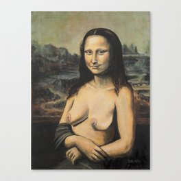 Moaner Lisa Canvas Print