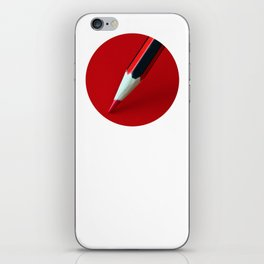 Crayon rouge red iPhone Skin
