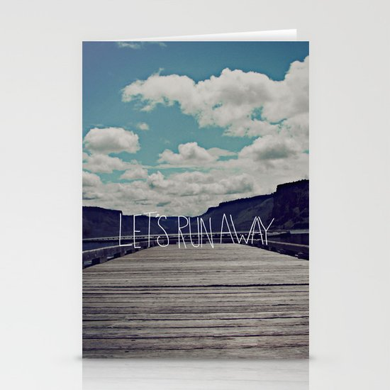 Let's Run Away: Detroit Lake, Oregon Stationery Cards