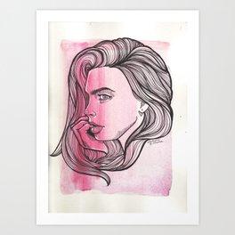 Cara - Pen Drawing   Art Print