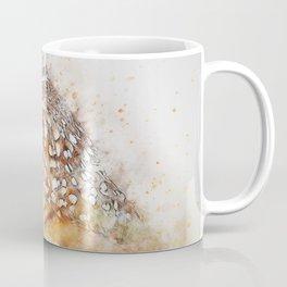 Bird animal owl art abstract Coffee Mug