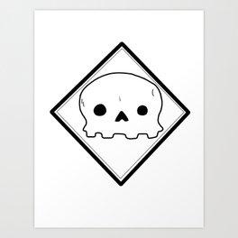 Non-threatening Skull Art Print