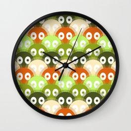 susuwatari pattern (color version) Wall Clock