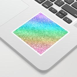 Rainbow Princess Glitter #1 (Photography) #shiny #decor #art #society6 Sticker