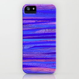 Blue - pink Abstract pattern iPhone Case