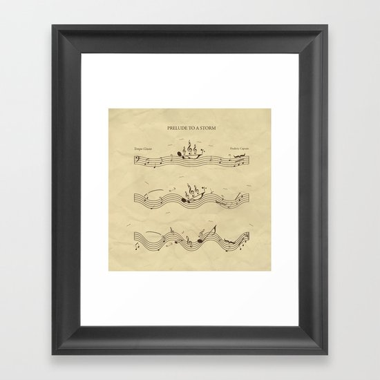 Prelude to a Storm Framed Art Print