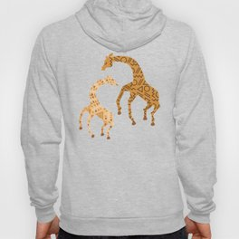 Black and Gold Giraffe Pattern Hoody