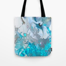 Pattern Blue-White Tote Bag
