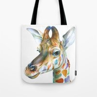 kindle Tote Bags featuring Giraffe by Brandon Keehner