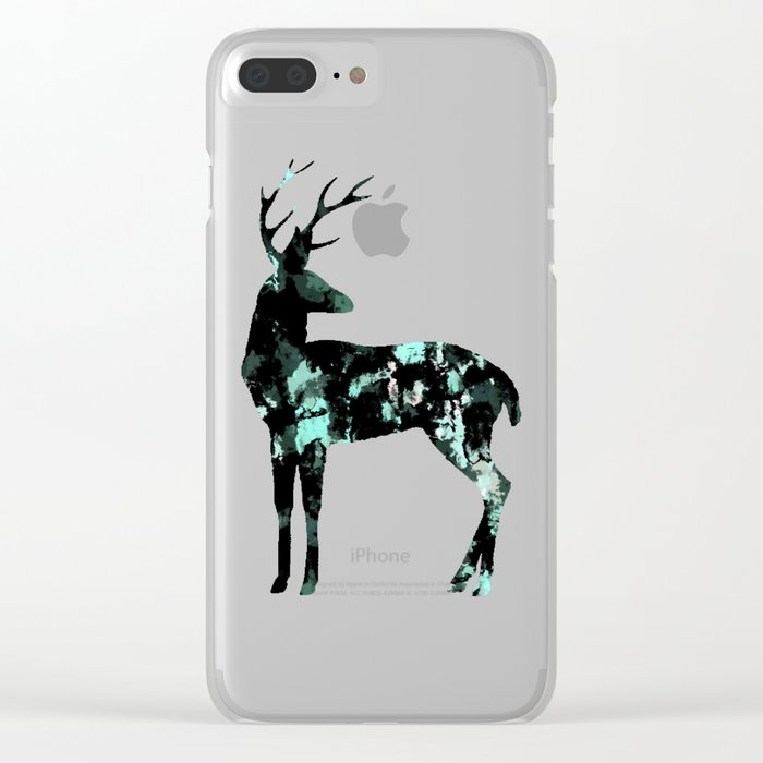 Abstract Deer Clear iPhone Case