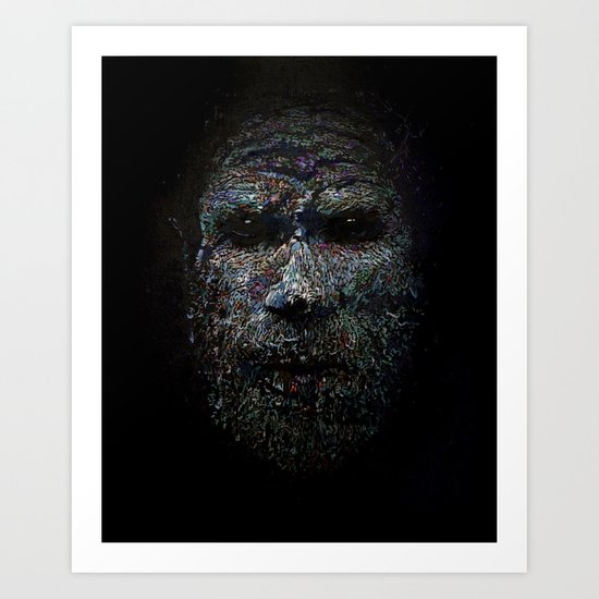 Chimbu Man Art Print