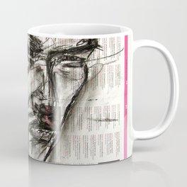 Warrior - Charcoal on Newspaper Figure Drawing Coffee Mug