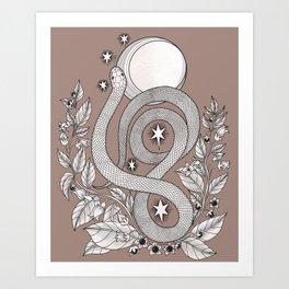 Killing Moon - Snake and Nightshade Art Print