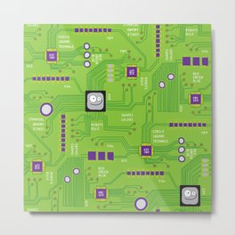 Circuit Board Metal Print