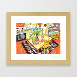 Tacos for dinner Framed Art Print