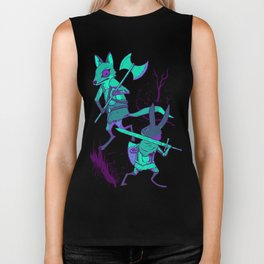 Fox and Rabbit Biker Tank