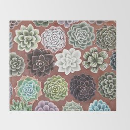 Succulent Life Throw Blanket