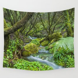Deep in the green forest Wall Tapestry