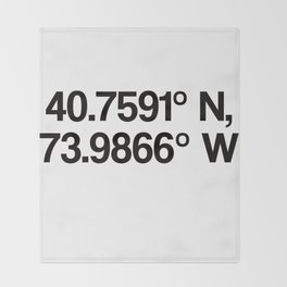 Coordinates of the Richard Rogers Theatre - Home of Hamilton: The American Musical Throw Blanket
