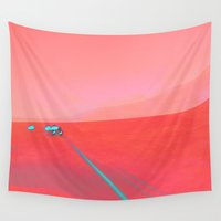 road Wall Tapestries featuring ROAD by RUEI