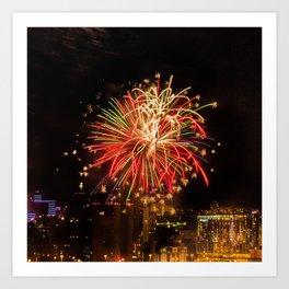 Firework collection 4 Art Print