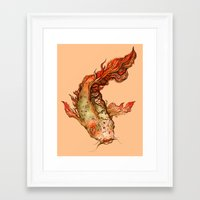 koi Framed Art Prints featuring Koi by S.G. DeCarlo
