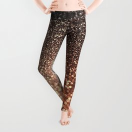 Tortilla brown Glitter effect - Sparkle and Glamour Leggings