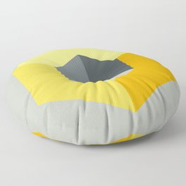 'Iso-Cube Yellow' Floor Pillow