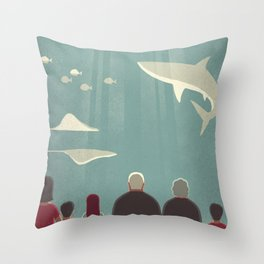 Day Trippers #9 - Aquarium Throw Pillow
